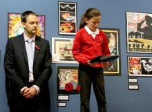 SCHOOLS EXHIBITION: School children from across Darlington read some of their poems during the event at the Crown Street Library in Darlington. Picture: DAVID WOOD