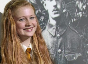 RESEARCH: Grace Morris falls under the watchful gaze of her war hero relative Edward Dwyer