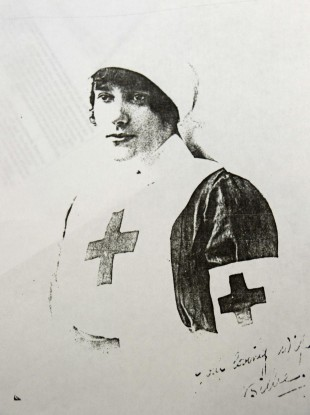 NURSE: Maude Barrett-Freeman, who tended the injured Edward Dwyer and later married him