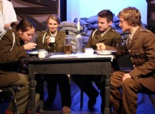 JOURNEY'S END: From L to R – Pupils Kerin Borer, Emma Robson, Matthew Raper and Ben Pullan