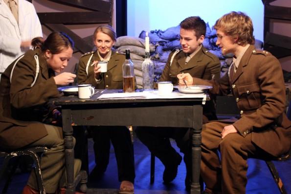 JOURNEY'S END: From L to R – Pupils Kerin Borer, Emma Robson, Matthew Raper and Ben Pullan