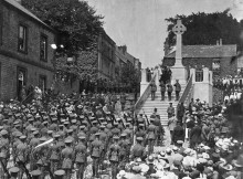 PROJECT: The unveiling of the regimental memorial at the top of Frenchgate in Richmond in 1921 Picture: GREEN HOWARDS MUSEUM