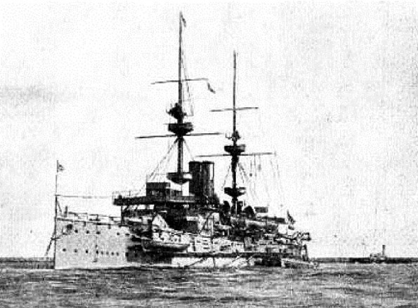 GUNNER: The battleship HMS Caesar, which was built in 1895 at a cost of £936,864 and scrapped in 1921