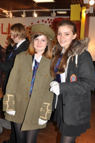 Courtney Barnwell, 15, from Rookhope and Aube Bailly, 15 from Wolsingham
