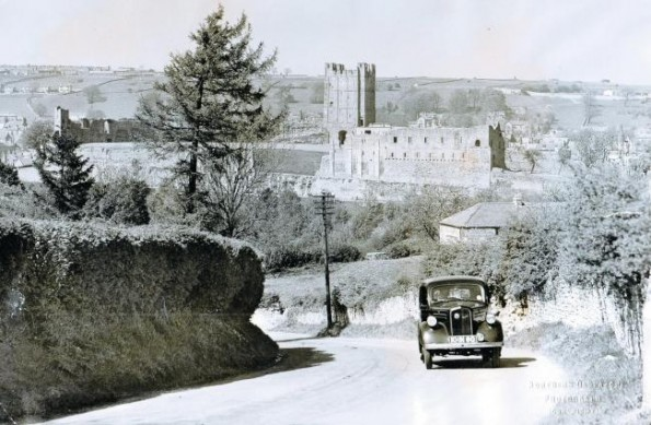 Richmond castle in the 1950s, where the first 16 conscientious objectors were held 100 years ago