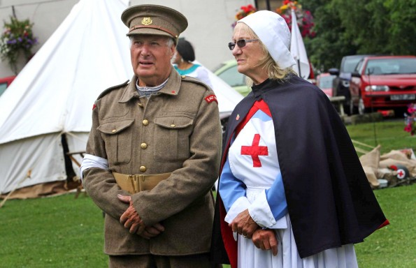 First World War re-enactment enthusiasts