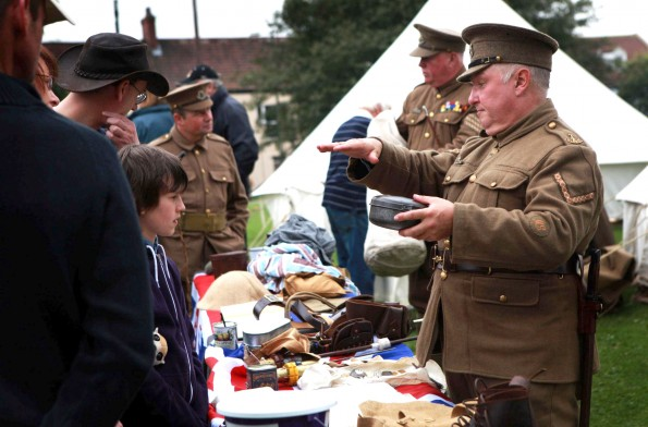 WAR WEEKEND: First World War re-enactment enthusiasts chat to visitors during the event in Sedgefield