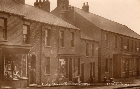 MINING COMMUNITY: The Co-op stores in Trimdon Grange on this Edwardian postcard – Abe Stewart's grandmother lived in the village