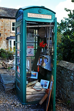 BOX EXHIBITION: The phone box which has been transformed into a First World War display. Picture: SARAH CALDECOTT