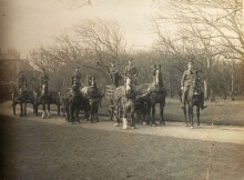 DIARY KEEPER: Wass Reader is standing in the wagon, third from left, in this picture. (Courtesy of Hedon Museum)
