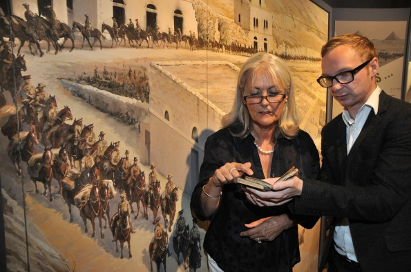 DIARY DECODERS: Linda Bird, left who helped to transcribe the diaries and Philip Newton, assistant curator of history