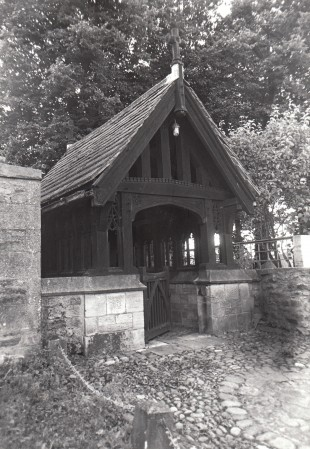 WAR MEMORIAL: Hutton Magna's memorial takes the form of a lychgate made by Robert 'Mouseman' Thompson, of Kilburn