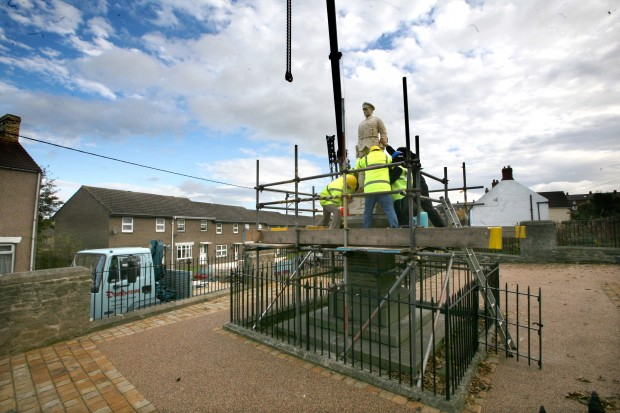 LATEST INCARNATION: The replica of the Coundon soldier arrives in 2007