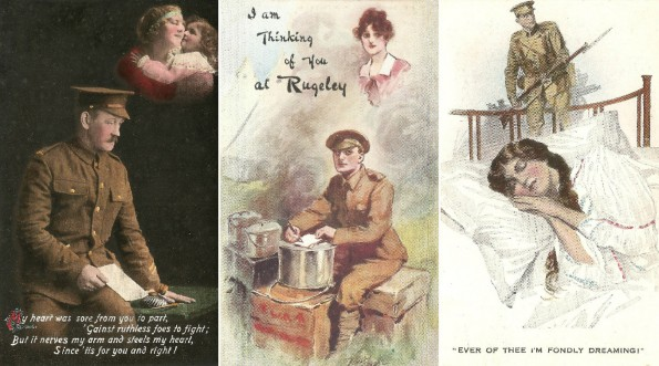 THINKING OF YOU: Some of the First World War postcards from Abe Stewart to his wife, Eva