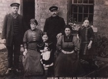 Some of the Belgian refugees in Middleton-in-Teesdale, in 1914