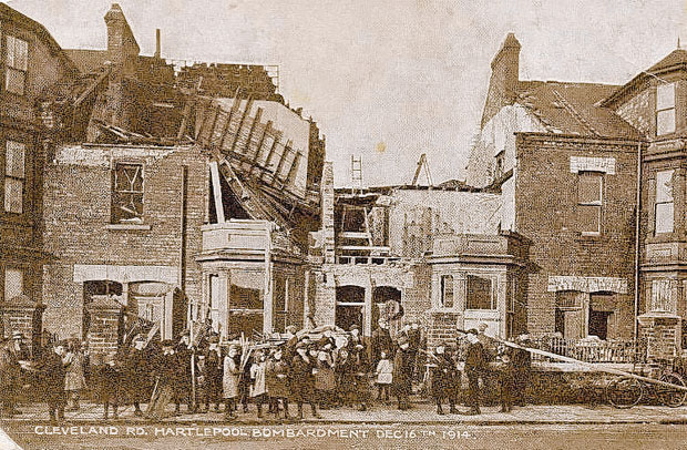 MAINLAND ATTACK: Cleveland Road, Hartlepool, after the bombardment of 100 years ago