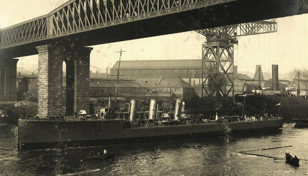 OFF TO SEA: Sunderland-built HMS Opal, which sank 100 years ago