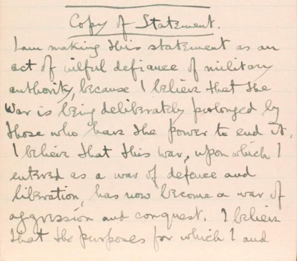POIGNANT: A Soldier's Declaration by Siegfried Sassoon