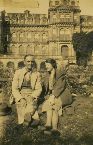 Wildfred and his wife, Hannah, at their beloved Bowes Museum