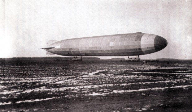 The L16 Zeppelin that bombed the Dene Valley and Evenwood on April 6, 1916